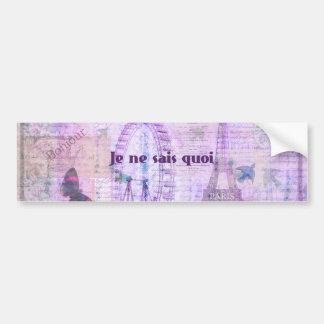 Frase francesa do quoi dos sais do ne de Je - arte Adesivo Para Carro