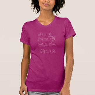 """Frase francesa do """"quoi dos sais do ne je"""" certo camiseta"""