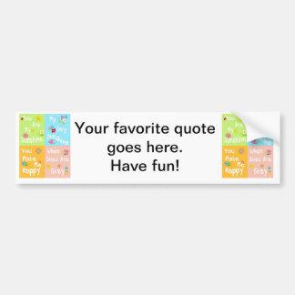 Frase inspirador da tipografia - colagem adesivo para carro