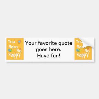 Frase inspirador da tipografia - laranja adesivo para carro