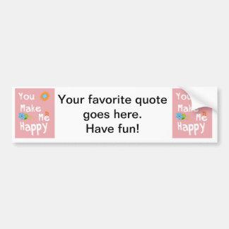 Frase inspirador da tipografia - rosa adesivo para carro