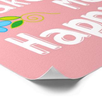 Frase inspirador da tipografia - rosa pôster