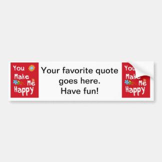 Frase inspirador da tipografia - vermelho adesivo para carro