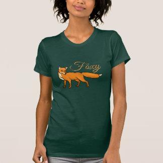 Frase retro engraçada do texto Foxy da arte do Tshirt