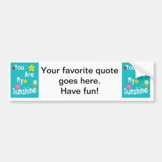 Frases inspiradores da tipografia - azul adesivo para carro