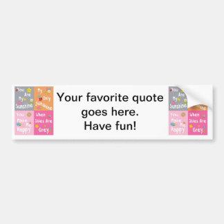 Frases inspiradores da tipografia - colagem adesivo para carro