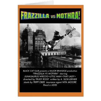 Frazzilla contra a traça! Um cartão de nota do Dia