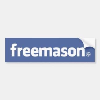 Freemason, logotipo do estilo de Facebook com S&C  Adesivo Para Carro