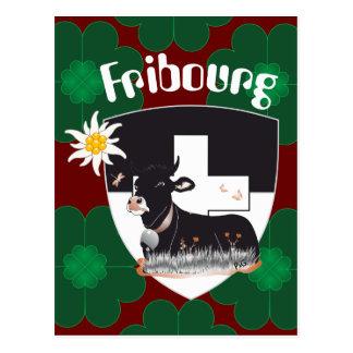 Freiburg, Fribourg Suíça Suisse cartão postal/