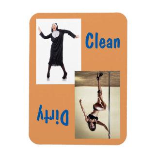 Freira da dança & ímã 3x4 limpo/sujo do dançarino