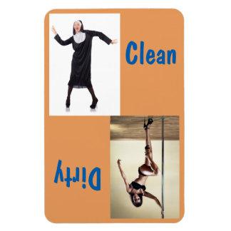 Freira da dança & ímã 4x6 limpo/sujo do dançarino