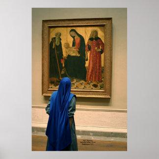 Freira, pintura, National Gallery da arte Pôster
