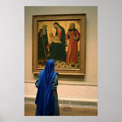 Freira, pintura, National Gallery da arte Posteres