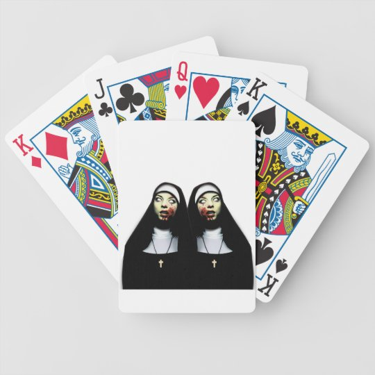 Freiras do horror baralhos para poker