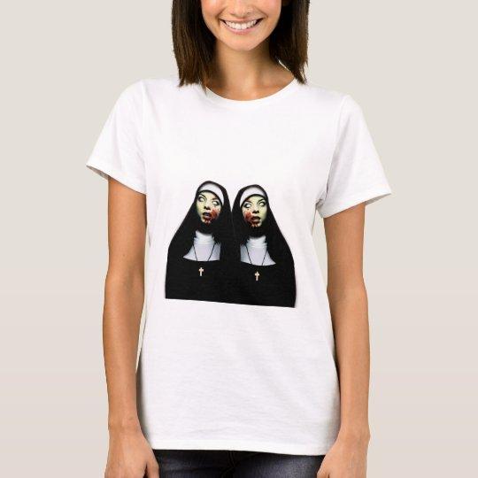 Freiras do horror camiseta