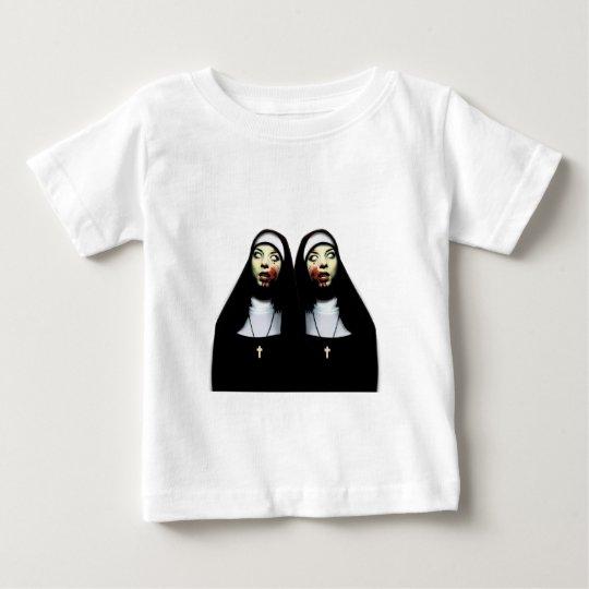 Freiras do horror camiseta para bebê