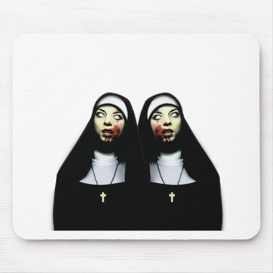 Freiras do horror mouse pad