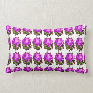 French_Spring_Floral_Violet-Rose_Lumbar_Accent Almofada Lombar