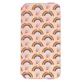 Frenchie comemora o mês do orgulho no arco-íris de capa carteira incipio watson™ para iPhone 6