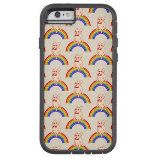 Frenchie comemora o mês do orgulho no arco-íris de capa tough xtreme para iPhone 6