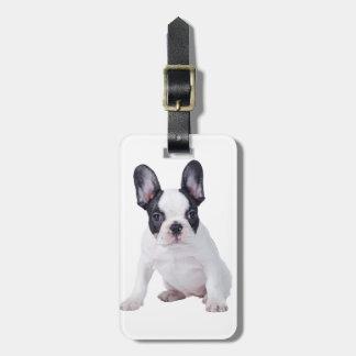 Frenchie - filhote de cachorro do buldogue francês tags de mala