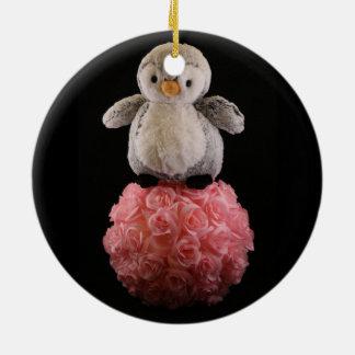 Frenchie o ornamento do pinguim