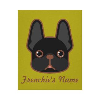 Frenchie rajado contínuo projeta impressão em tela