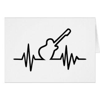 Freqüência da guitarra elétrica cartão