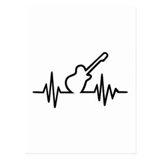 Freqüência da guitarra elétrica cartões postais