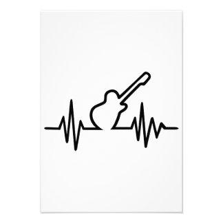 Freqüência da guitarra elétrica convite personalizados