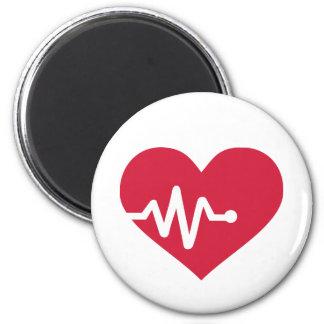 Freqüência de coração vermelha imã