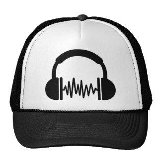 Freqüência DJ dos fones de ouvido Boné