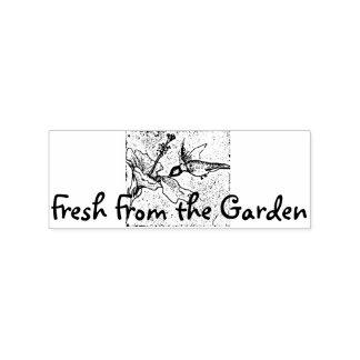 Fresco do jardim carimbo de borracha