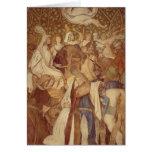Fresco, Elisabeth-Galerie, castelo de Wartburg Cartao