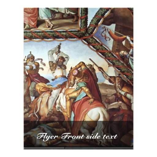 Fresco em casas Massimo em Roma Ariosto Salão Vaul Panfletos Personalizados