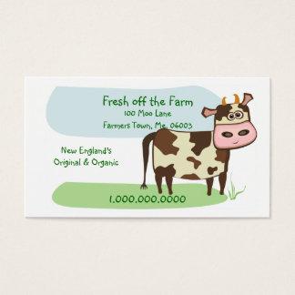 Fresco fora da fazenda cartão de visitas