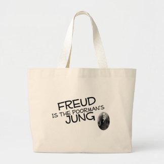Freud é o Jung do Poorman Sacola Tote Jumbo