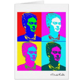 Frida Kahlo Andy Warhol inspirou o retrato Cartao