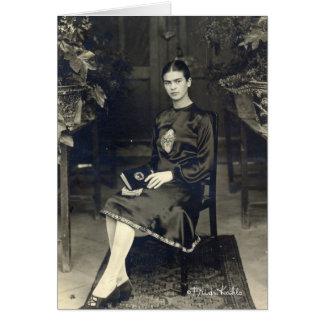 Frida Kahlo assentou Cartão Comemorativo