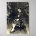Frida Kahlo assentou Poster