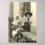 Frida Kahlo com crianças Poster