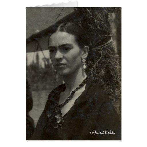 Frida Kahlo no preto Cartao