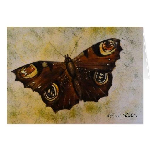 Frida Kahlo pintou a borboleta Cartoes
