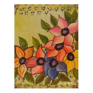 Frida Kahlo pintou Flores Cartão Postal