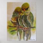 Frida Kahlo pintou pássaros Poster