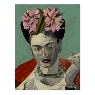 Frida Kahlo por García Villegas Cartão Postal