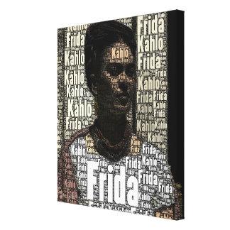 Frida Kahlo que rotula o retrato