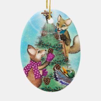 Frieda ata enfeites de natal - a árvore