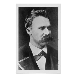 Friedrich Wilhelm Nietzsche (1844-1900) 1873 (b/w Poster