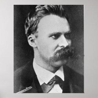 Friedrich Wilhelm Nietzsche (1844-1900) 1873 (b/w Pôster